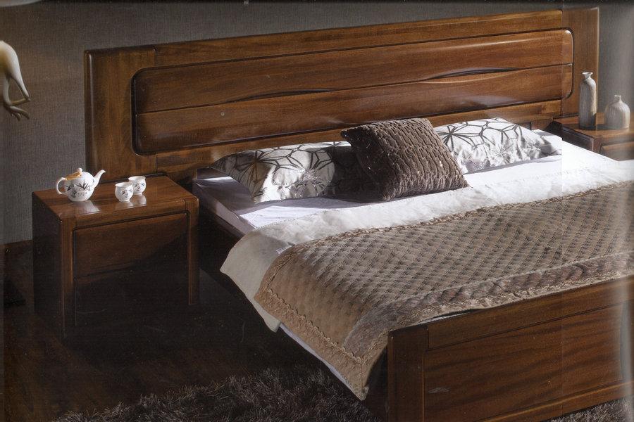 床头背景胡桃木线条